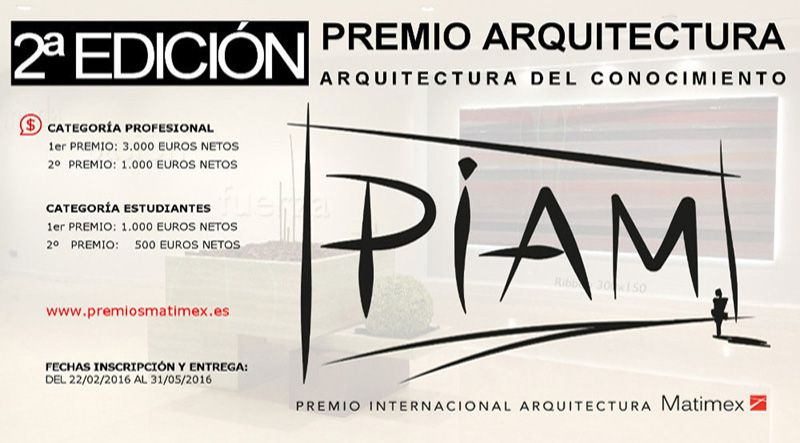 2ª EDITION MATIMEX ARCHITECTURE AWARD